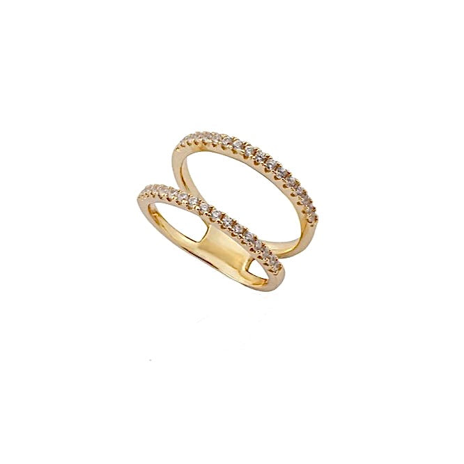 CARIS Tight Double Ring - Gold - LIMITIERT - CLASSYANDFABULOUS JEWELRY