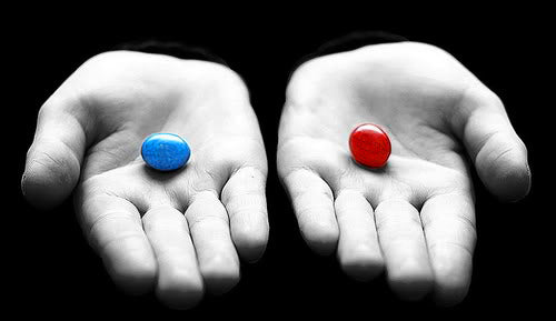 are you going to take the blue pill or the red pill james ridyard