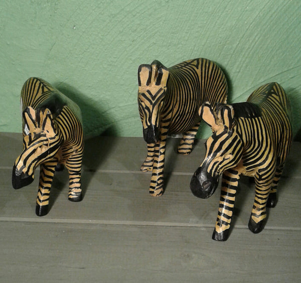 Zebra in wood
