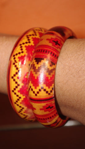 Edo Bangles Wood (set of 2)