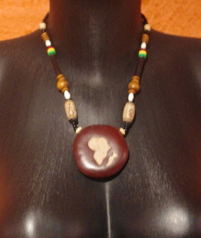 Native Necklace Wood medal