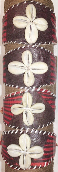Leather Cowries Bangles