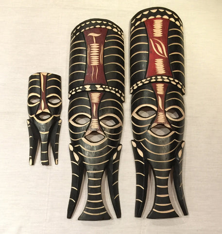 Beautiful set of 3 tribal masks