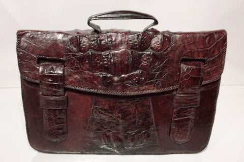 Crocodile leather briefcase - collector's item