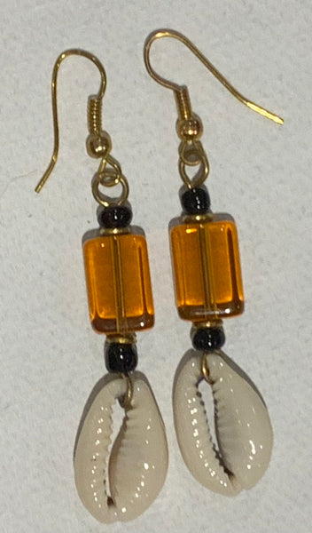 Beautiful cowries earrings