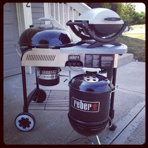 gas and charcoal grill