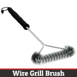 Check out mycavetools.com for this amazing wire grill brush!