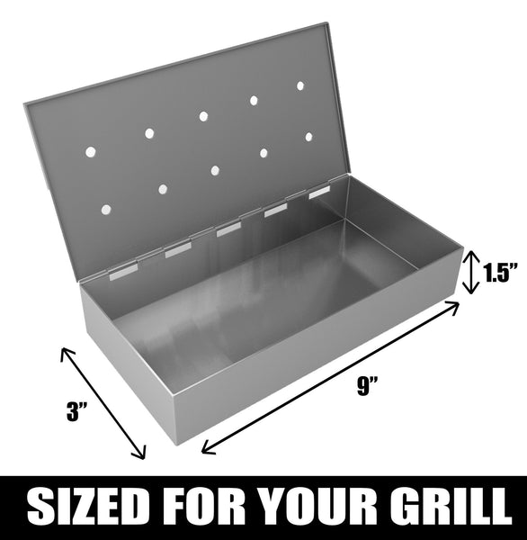 Smoker Box For Bbq Grill Wood Chips Cave Tools