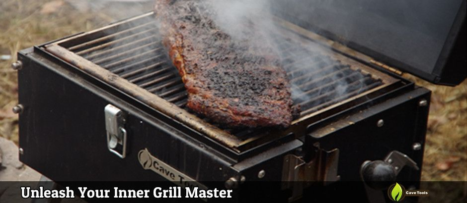 Vertical Rotisserie Charcoal Grill