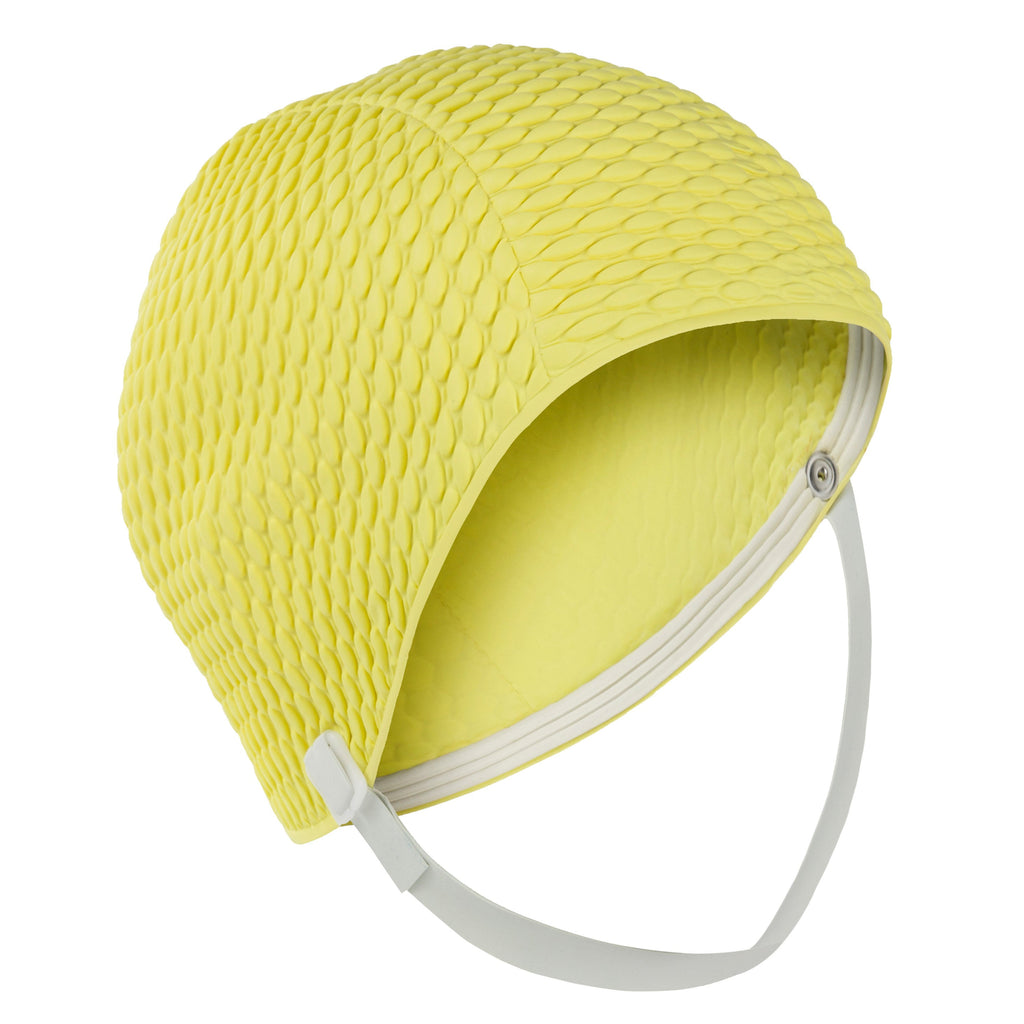 Small Fitting Swim Cap With Chin Strap