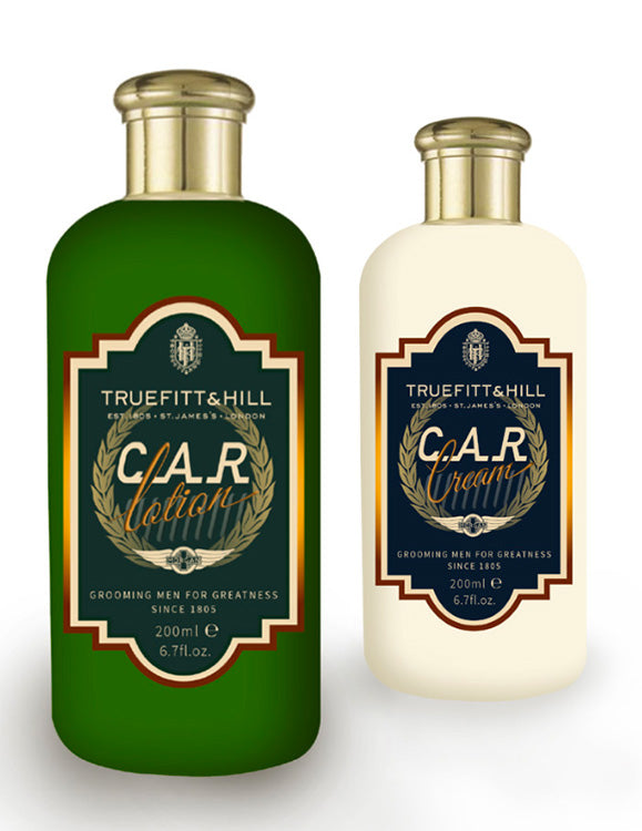 C.A.R. Lotion and C.A.R. Cream bottles