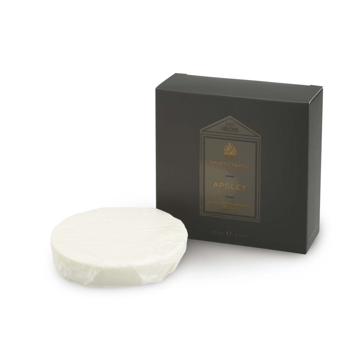 Apsley Luxury Shaving Soap Refill for Wooden Bowl