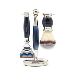 Edwardian Collection - Fusion & Mach III Synthetic Shaving Brush & Razor Set