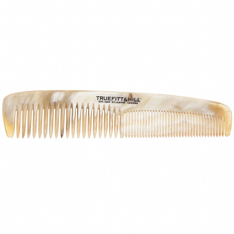 "Truefitt & Hill Medium Double Tooth Horn Comb  (6"")"