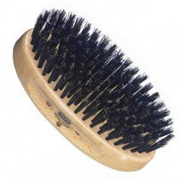 Kent Military Brush, Oval, Beechwood, Natural Shine Black Bristle Hairbrush - Truefitt & Hill Canada