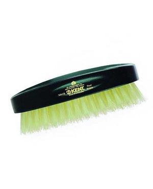 Kent Military Brush, Rectangular, White Bristles, Ebonywood (Black)