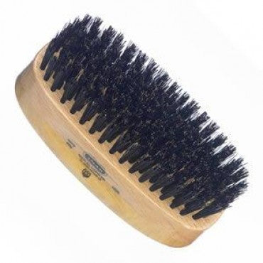 Kent Military Brush, Rectangular, Black Bristles, Satinwood & Beechwood - Truefitt & Hill Canada