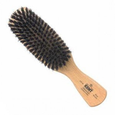 Kent Men's Brush, Rectangular Head, Black Bristles, Satinwood - Truefitt & Hill Canada