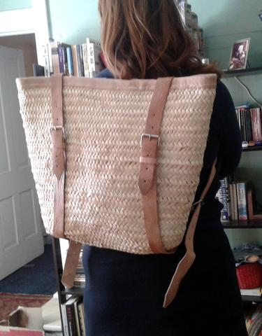 Handwoven + Leather Trimmed BackPack