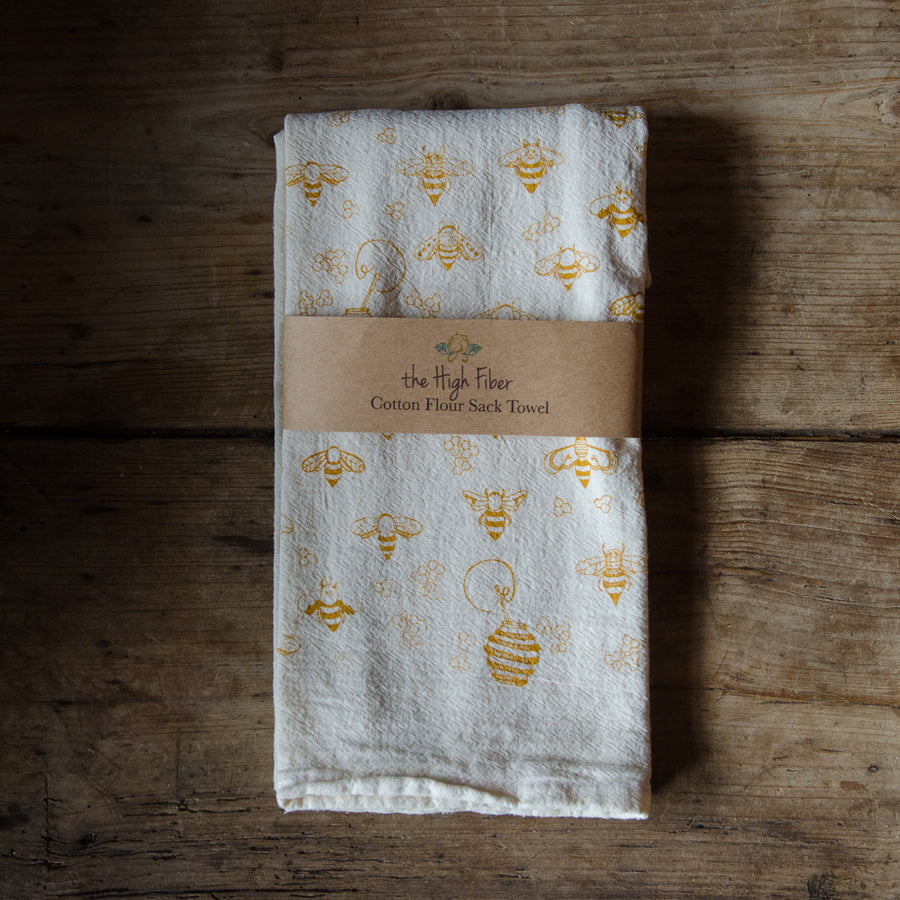 Flour Sack Towels, Handprinted