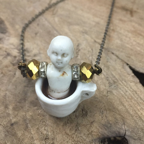 Coffee Baby Necklace