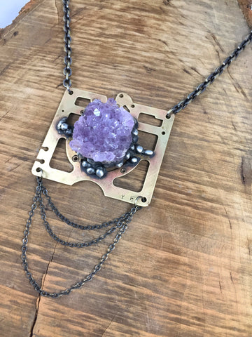 Amethyst Necklace ~ Cuckoo