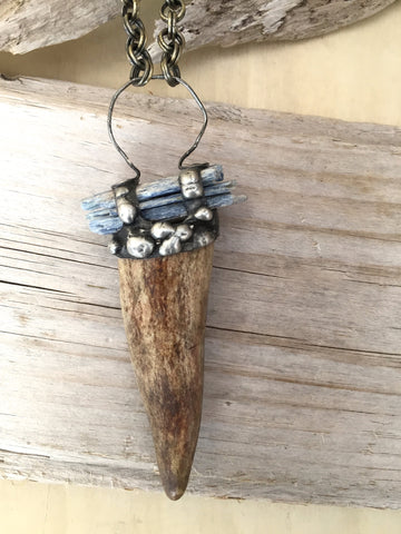 Antler & Kyanite, Bridge Necklace
