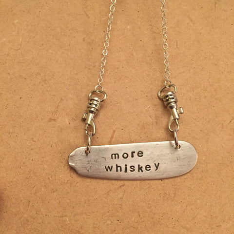 """more whiskey"" Blade Necklace"
