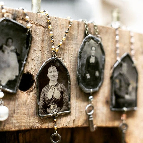 TinType Foundling Necklace, Custom Order