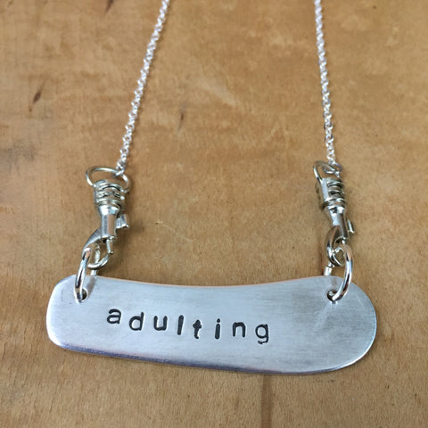 """adulting"" Blade Necklace"