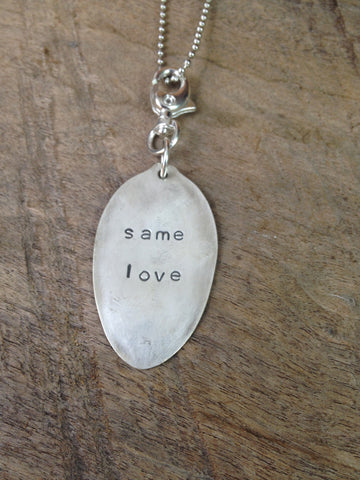 """same love"" Spoon Necklace"