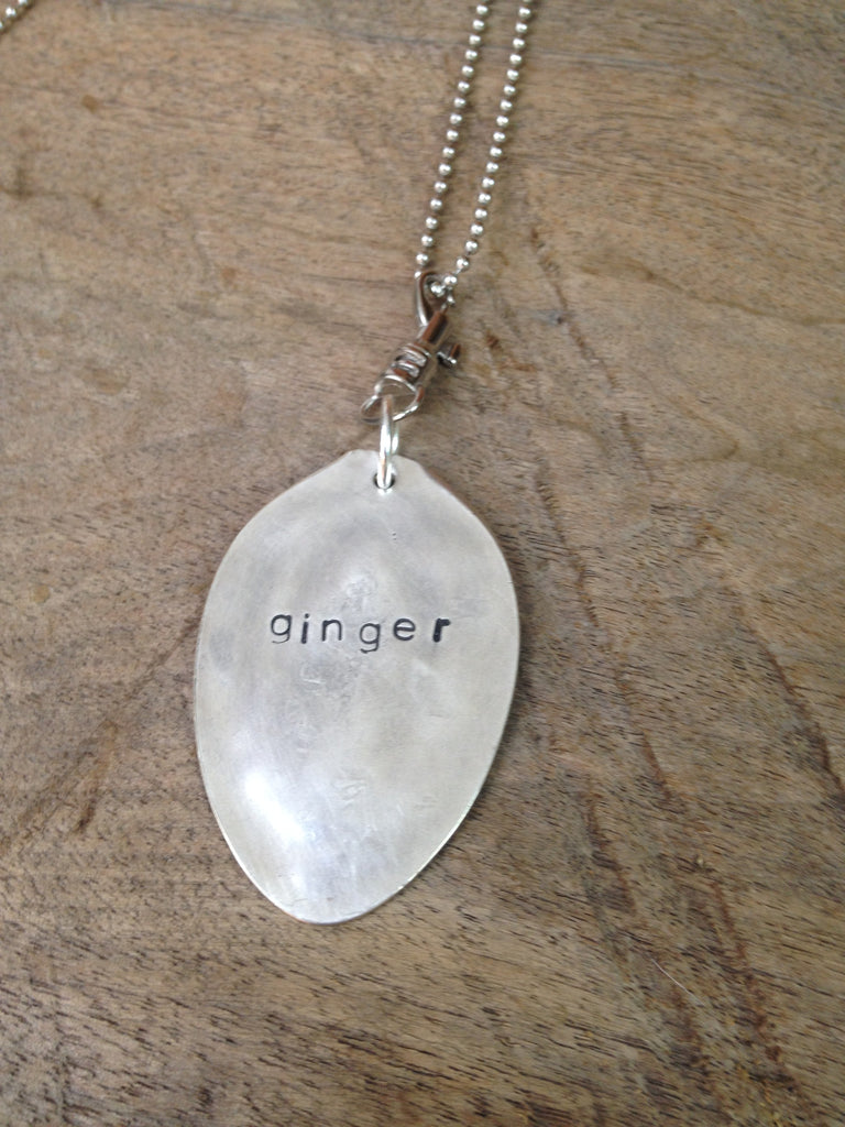 """ginger"" Stamped Spoon Necklace"