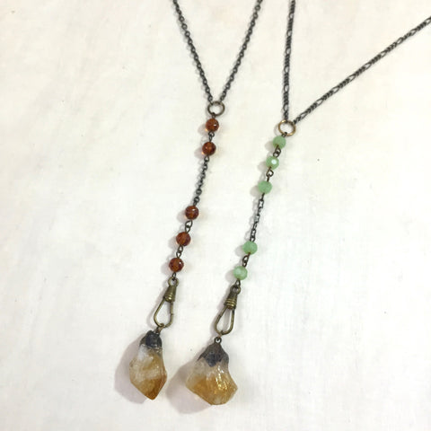 Emily Necklace, Citrine