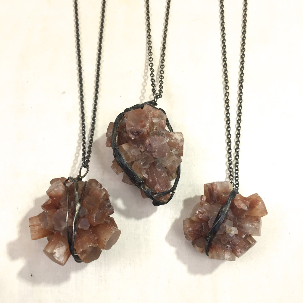 Aragonite Star Collider Necklace