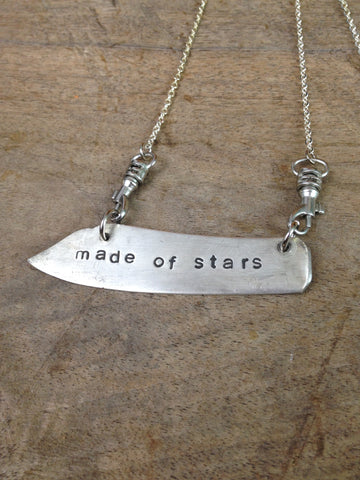 """made of stars"" Stamped Butter Knife Necklace"