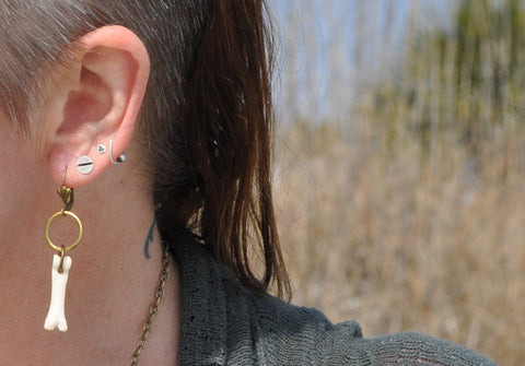 Earrings Coyote Bone