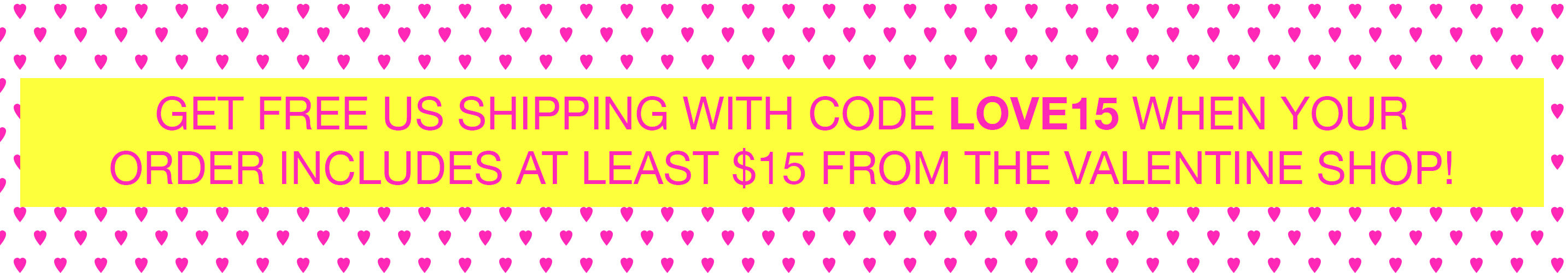 Get FREE US shipping when your order includes at least $15 from Mari Orr's Valentine Shop! || www.mariorr.com/valentines