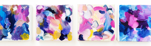 Colorful abstract art paintings by Mari Orr || www.mariorr.com