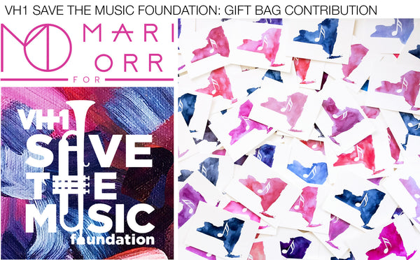 Artist Mari Orr contributes original art for VH1 Save the Music Foundation