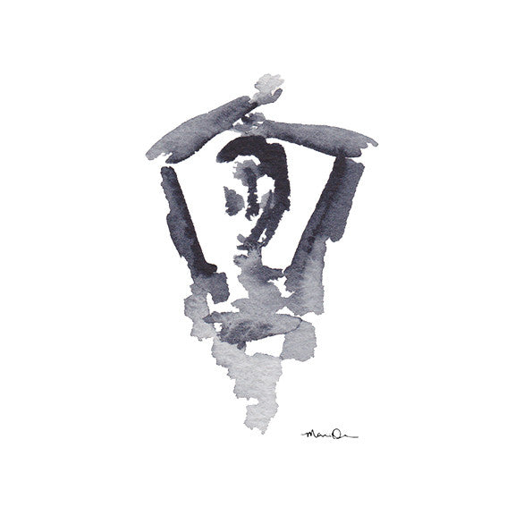Contemplation 03<br>Archival Watercolor Print - Mari Orr  - 2