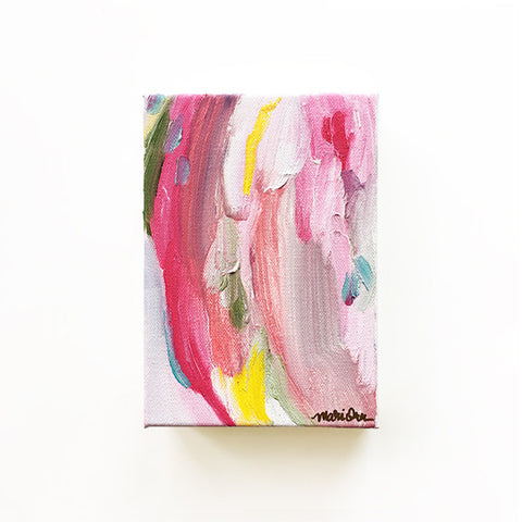 Abigail Oil Painting Colorful Abstract Bright Happy Joyful by Mari Orr || www.mariorr.com