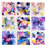 Colorful original abstract art on canvas by artist Mari Orr || www.mariorr.com