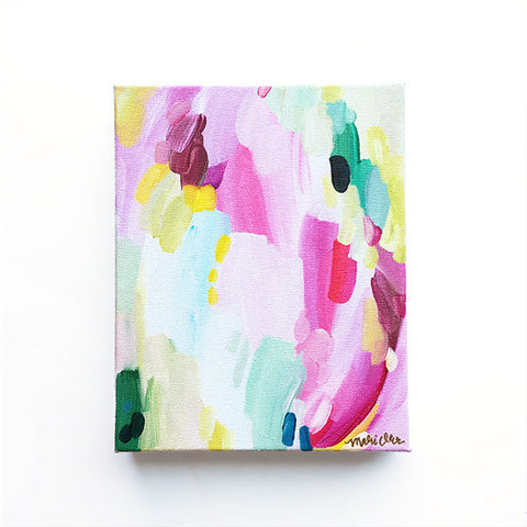 Darla Original Oil Painting Abstract Art on Canvas Colorful Rainbow by Mari Orr || www.mariorr.com