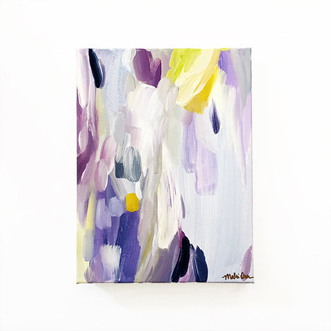Fenella Abstract Painting Purple Original Art on Canvas 9x12 by Mari Orr || www.mariorr.com