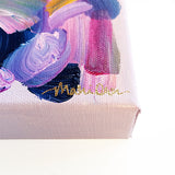 Georgiana Original Abstract Pink Blue Purple Colorful Art by Mari Orr || www.mariorr.com