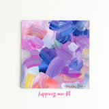 Happiness Minis<br>Original Acrylic Abstract Color Study - Mari Orr  - 6