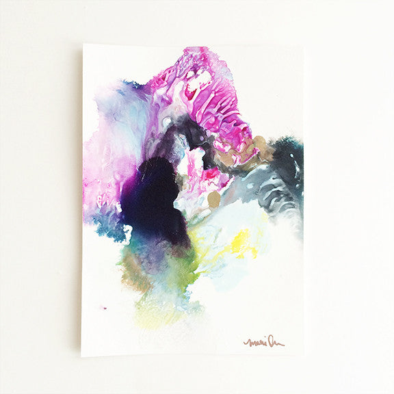 James Colorful Original Abstract Painting Art by Mari Orr || www.mariorr.com
