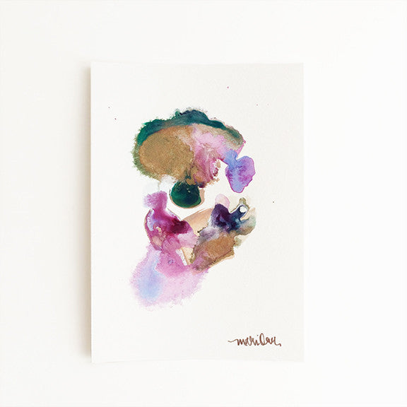 Juliet Colorful Abstract Painting Home Decor by Mari Orr || www.mariorr.com