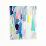 "June Original Abstract Painting on Canvas 8x10"" Fresh Spring Colorful Acrylic Art by Mari Orr 