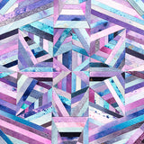 LINEA 009 Purple Pink Blue Collage Mosaic Art by Chicago Artist Mari Orr || www.mariorr.com